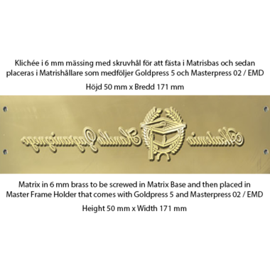 Matrix 6mm brass for screwing - Goldpress 5