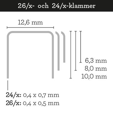 Skrebba häftklammer - för sadel/broschyr och block