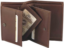 WALLET ELK/MOOSE LEATHER black or brown