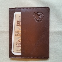 WALLET ELK/MOOSE LEATHER Brown MINI MINI