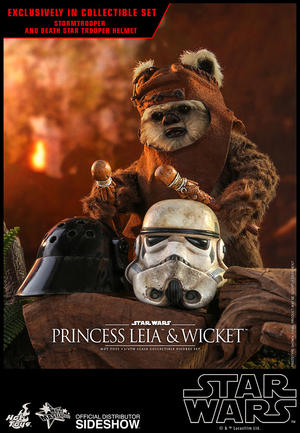 Hot Toys - Leia & Wicket Set Sixth Scale Collectible Figures