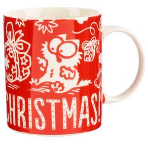 Simon mugg Meowy Christmas