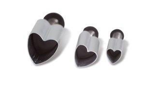 Pralinutstickare hjärtan 3 st