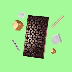 """Pralinform från Martellato """"Chokladkaka nya rutor"""""""
