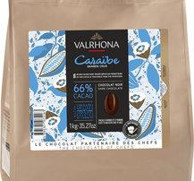 Mörk choklad Caraibe 66%, Valrhona, 1 kilo