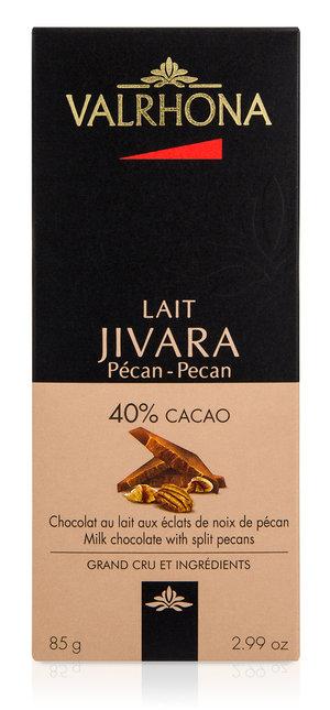 Valrhona Chokladkaka Jivara pecan 40% 85 g