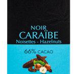 Valrhona Chokladkaka Caraibe Hazelnuts 66% 85 g