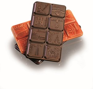 """Pralinform från Martellato """"chokladkakor storstad"""""""