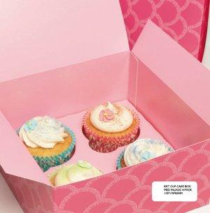 Cupcakekartong för 4 cupcakes, 1 st
