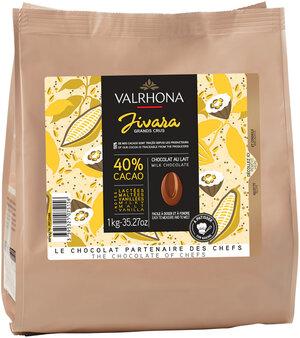 Ljus choklad Jivara 40%, Valrhona, 1 kilo