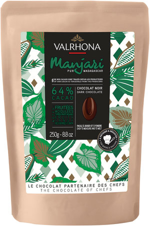 Mörk choklad Manjari 64%  Valrhona 250 g