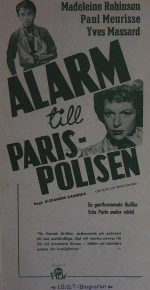 Alarm till parispolisen