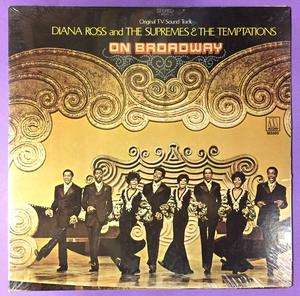 DIANA ROSS SUPREMES & TEMPTATIONS - On Broadway US-orig LP 1969 OÖPPNAD!