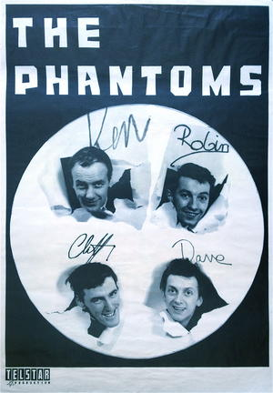 PHANTOMS (KEN LEVY &) (1962) - Turneaffisch