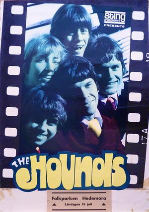 HOUNDS (1967) - Concert/tour poster