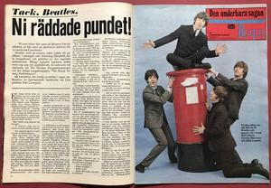 BILDJOURNALEN - nr 18 1968 Beatles Maharishi etc. omslag