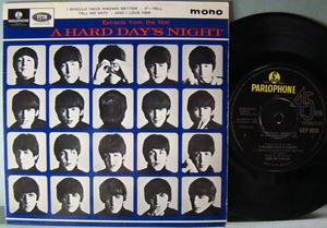 BEATLES - A hard day´s night + 3 EP UK 1964