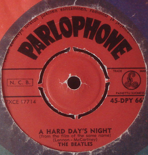 "BEATLES - A hard day´s night  7"" Finland -64"