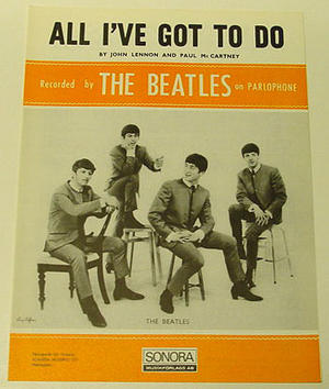 Beatles - All I've got to do Nothäfte 1963