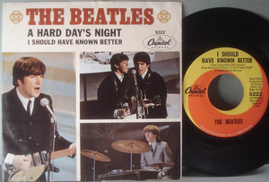 "BEATLES - A hard day´s night  7"" USA 1964 PS"