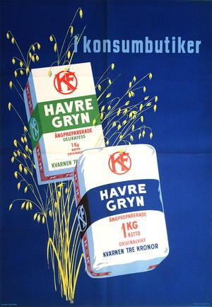 HAVREGRYN - I Konsumbutiker (1940-tal)