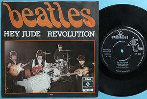 """BEATLES - Hey Jude UK 7"""" EXPORT DP 570 / Swe PS 1968"""
