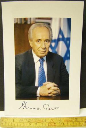 Peres, Shimon - Autograf