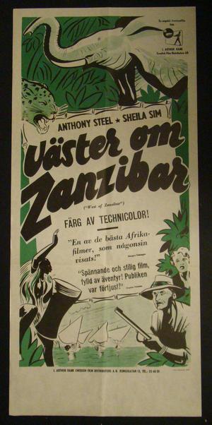 WEST OF ZANZIBAR (ANTHONY STEEL, SHEILA SIM )