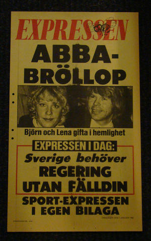 EXPRESSEN DAYBILL (ABBA WEDDING)