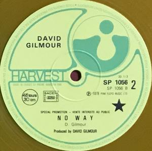 """PINK FLOYD - RICHARD WRIGHT & DAVID GILMOUR - Drop in from the top Fra-orig PROMO Gul vinyl 12"""" 1978"""