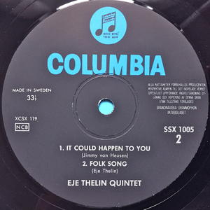 EJE THELIN QUINTET - So far Swe-orig LP 1963