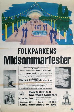 MONICA ZETTERLUND, STREAPLERS (1962-63) - Concert poster