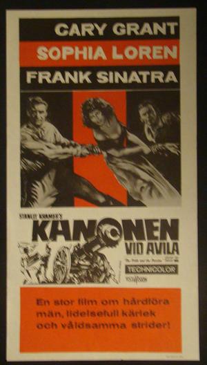 KANONEN VID AVILA (GARY GRANT, SOPHIA LOREN, FRANK SINATRA)