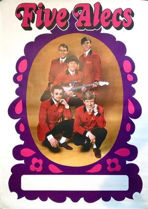 FIVE ALECS (1967-68) - Tour poster