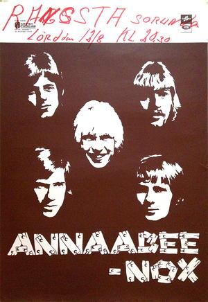 ANNAABEE-NOX (1968) - Tour poster