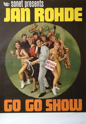 JAN ROHDE - GO GO SHOW (1964-65) - Turneaffisch