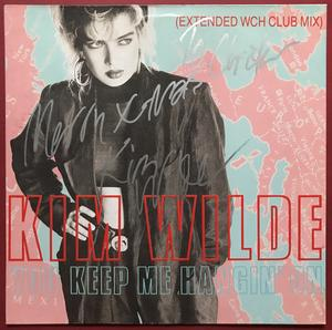 "KIM WILDE - You keep me hangin´ on SIGNED 12"" 1986"