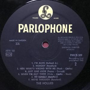 "HOLLIES - ""same"" Svensk orig LP 1965"