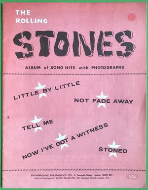 ROLLING STONES - Album of song hits with photographs Nothäfte 1964 ROSA