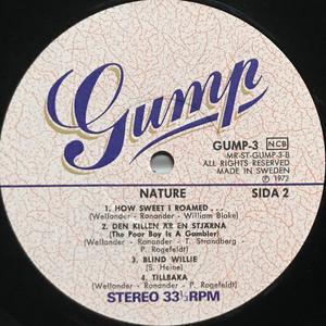 "NATURE - ""same"" Swe-orig GUMP LP 1972"