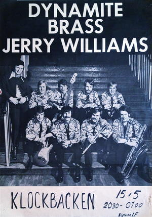 JERRY WILLIAMS & DYNAMITE BRASS (1969-70) - Tour poster