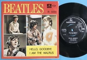 """BEATLES - Hello goodbye 7"""" Swe/UK 1967 PS M-!"""