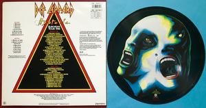 DEF LEPPARD - Hysteria SIGNED UK-orig Pic disc LP 1988