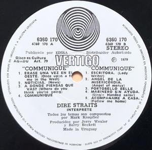 DIRE STRAITS - Communiqué Uruguay-orig LP 1979