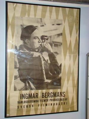 INGMAR BERGMAN orig. Reklamaffisch SF filmer 1959