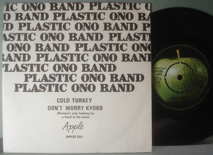 "BEATLES-PLASTIC ONO BAND - Cold turkey 7"" Swe 1969 PS"