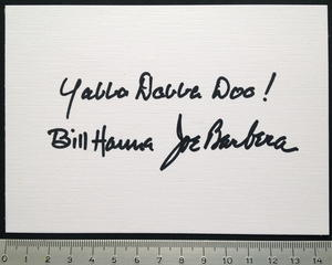 BILL HANNA & JOE BARBERA (The Flintstones) - Real autograph on card