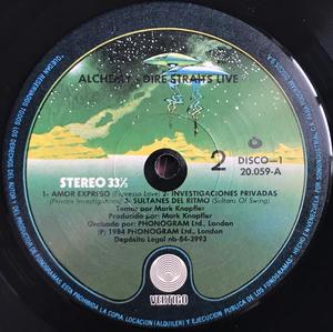 DIRE STRAITS - Alchemy Venezuela-orig 2LP 1984