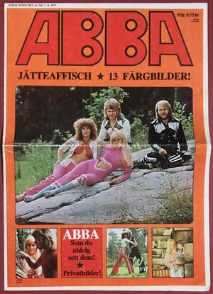 ABBA - Nr 1 1977 Jätteaffisch