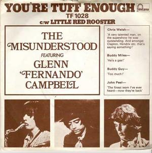 """THE MISUNDERSTOOD - You´re tuff enough 7"""" UK med PS"""